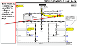 2003 ford f150 o2 sensor diagram 2001 f 250 5 4l 2 upstream o2 sensors near manifold there misfire