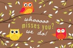 i miss you cards we miss you postcards