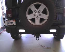 jeep wrangler backup lights mounting ideas for rear back up and work lights jeep wrangler forum