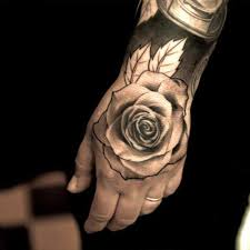 hand tattoos for guys lovely rose flower on hand tattoo for men rose tattoos for men n