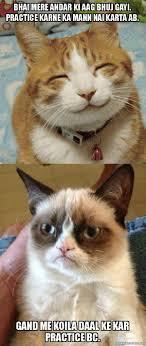 Mere Cat Meme - bhai mere andar ki aag bhuj gayi practice karne ka mann nai karta