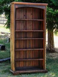 7 diy old rustic wood furniture projects reclaimed wood bookcase