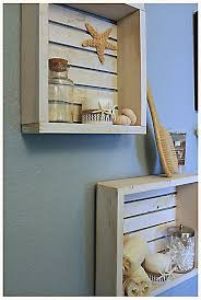 Bathroom Shelves Decorating Ideas Colors Shabby Chic Beach Crate Wall Shelf By Brandnewtome On Etsy Brand