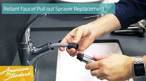 how to replace the easy touch pull out sprayer for your reliant