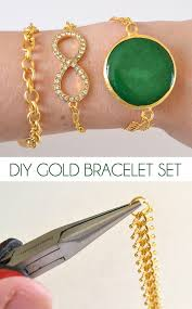 diy gold bracelet images Gold bracelet set dream a little bigger jpg