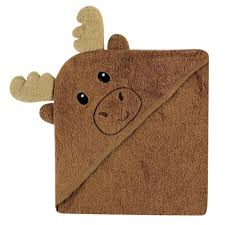 amazon com luvable friends animal face hooded towel moose baby