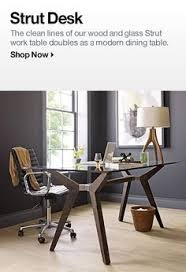 Crate And Barrel Office Desk Helix Acacia Desk Acacia Desks And Office Furniture