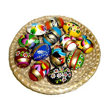 wooden easter eggs center deluxe golden wooden easter eggs