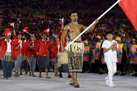 Flag Of Cameron Tonga Wins For Hottest Male Flag Bearer At The Rio Opening