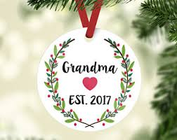 grandparent ornaments personalized baby s christmas ornament christmas
