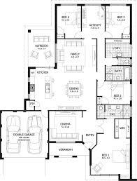 4 bedroom house designs floor plans 4 bedrooms house design 4