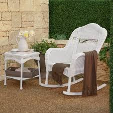 fresh white wicker rocking chair with additional home design ideas