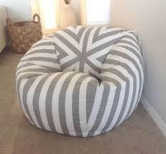 bean bag canopy stripe grey and white stripes bean bag cover