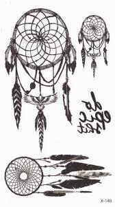 dreamcatcher tattoo small temporary tattoo festival by mybodiart