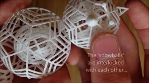 3d printed snowman spinning ornament