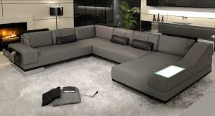 real leather sectional sofa lovely grey leather sectional sofa e9054 ltgry architecture