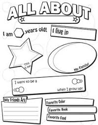all about me worksheet this would be cute for a time cap or 1st