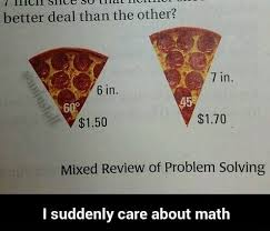 Math Problem Meme - pizza math problem