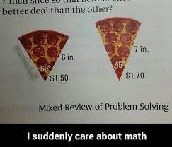 Meme Math Problem - pizza math problem