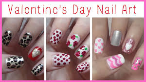valentine u0027s day nail art three easy designs youtube