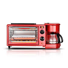 Triple Breakfast Machine Household Toaster Electric Oven Frying Pan