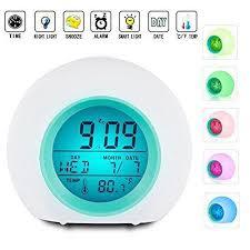 best light alarm clock best alarm clock for kids wake up light premium digital display