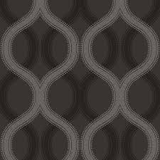 B Q Home Decor by Statement Beads Solaris Black U0026 Grey Wallpaper Departments Diy