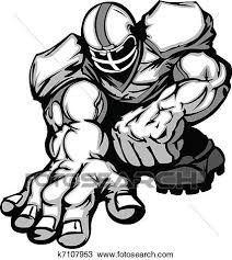 clipart of football player lineman cartoon k7107953 search clip