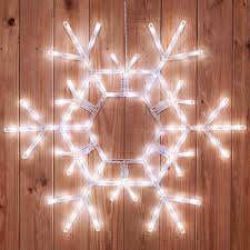 snowflake lights snowflakes 36 led folding snowflake decoration 105