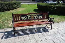 file park bench in the center of yerevan jpg wikimedia commons