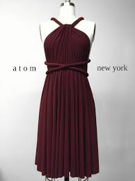 burgundy wine red short infinity dress convertible formal