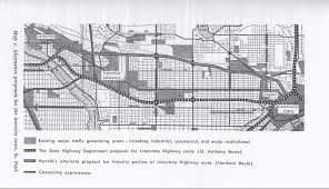 Interstate Highway Map The Birth Of A Metro Highway Interstate 94 Streets Mn