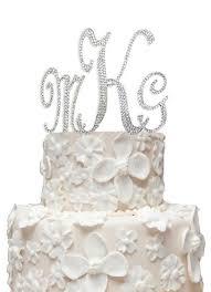 cake topper monogram monogram cake topper with swarovski crystals david s bridal