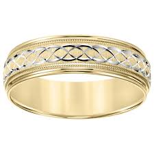 engraving on wedding bands cambridge 14k two tone gold men s engraved wedding band free