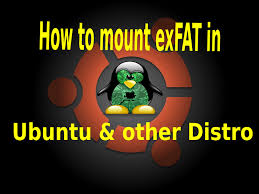 format exfat partition ubuntu how to mount exfat in ubuntu and other gnu linux distro youtube