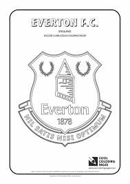 everton f c logo coloring coloring page with everton f c logo
