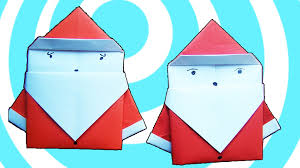 How To Make A Origami Santa - origami step by step how to make origami santa cap