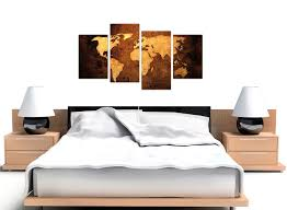 World Map Canvas Art by Canvas Pictures Of A World Map In Brown And Tan For Your Bedroom