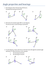 angle properties and bearings by pas1001 teaching resources tes