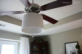 Light Bulb Shades For Ceiling Lights Adding A Drum Shade To A Ceiling Fan Wonderful