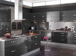 Modern Kitchen With White Appliances Sweet Decoration Gray Kitchen Cabinets Modern Best Photos Room