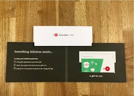 gift card business opentable gift card opentable gifts