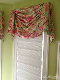 teenage girls bedroom board mounted swag valance with bead trim a