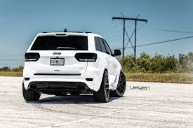 white jeep 2016 white jeep srt8 velgen wheels vmb5 jeep garage jeep forum