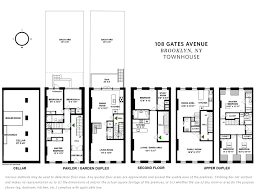 Brooklyn Brownstone Floor Plans 108 Gates Avenue Clinton Hill Stribling U0026 Associates