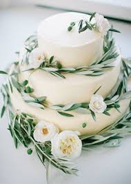 wedding cake greenery wedding cake olive leaves are a fresh and stylish addition to