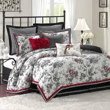 black and white bedroom comforter sets bed black bedding set gray red comforter black red gray bedding