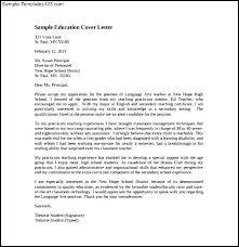 secondary teacher cover letter secondary teacher cover letter