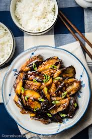 Chinese Main Dish Recipe - chinese eggplant with garlic sauce 红烧茄子 omnivore u0027s cookbook