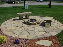 Rock Patio Design Slate And River Rock Patio Sg2015